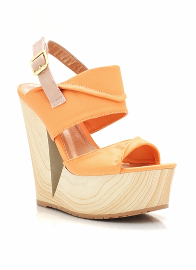 Faux Leather Cut-Out Wedges