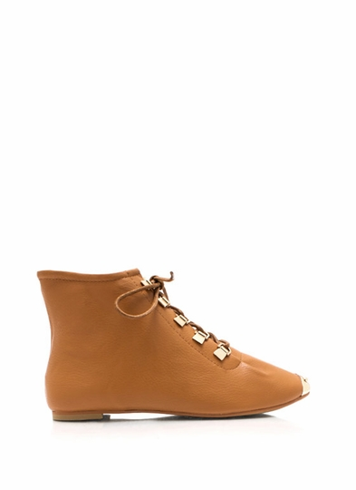 Faux Leather D-Ring Ankle Boots