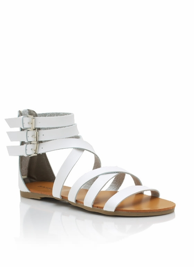 Faux Leather Granola Girl Sandals