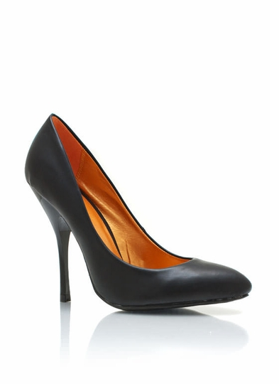 Faux Leather Single-Sole Pumps