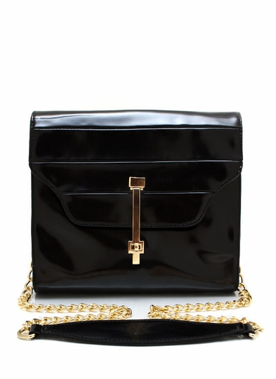 Faux Leather Square Clutch