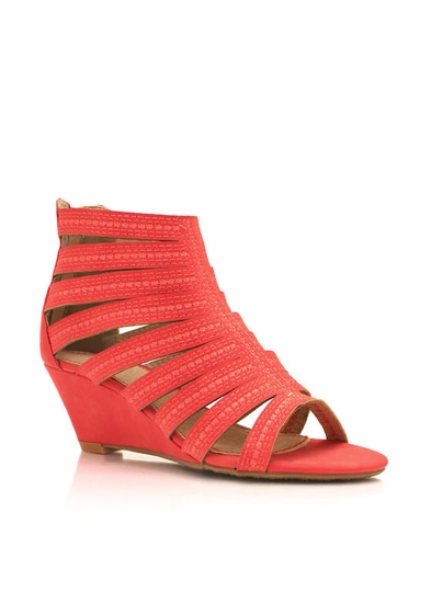 Faux Nubuck Wedge Sandals