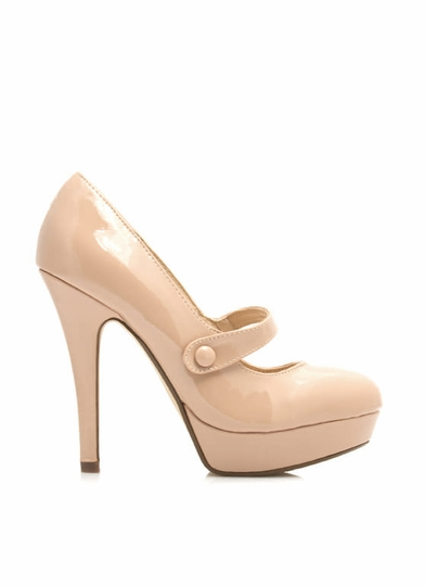 Faux Patent Mary Jane Pumps