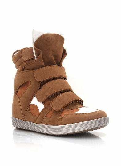 Faux Suede Hidden Wedge Sneakers