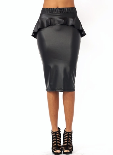 Faux You Peppy Pencil Skirt