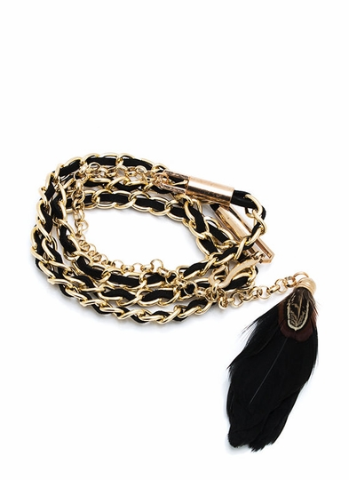 Feather Chain Link Belt