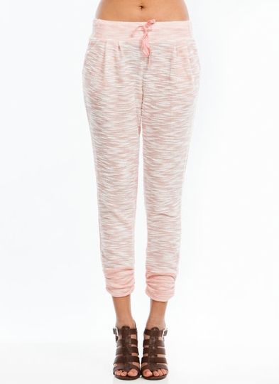 Feel The Blizzard Ruched Joggers