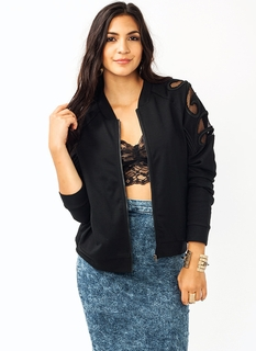 Filigree Net Bomber Jacket