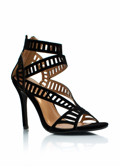 Film Strip Cut-Out Heels