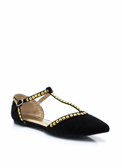 Flair And Square Studded Flats