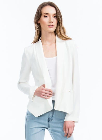 Flap Happy Shawl Collar Blazer