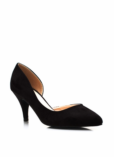 Flip Side Faux Suede Pumps