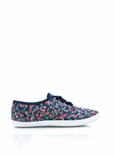 Floral Grounds Canvas Sneakers