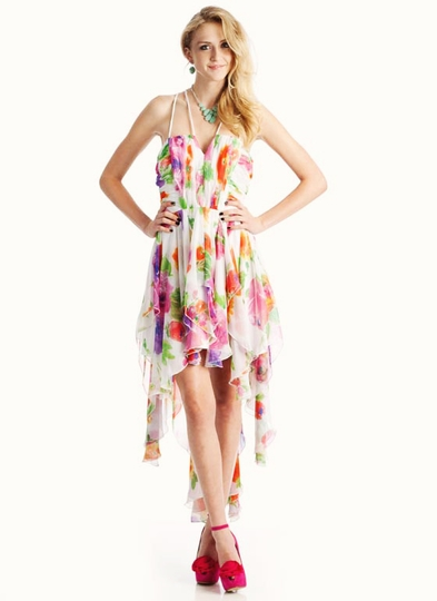 Floral High-Low Formal