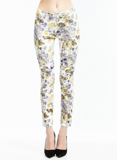 Digital Floral Print Trousers