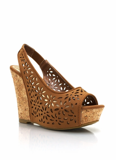 Flower Bomb Cork Wedges
