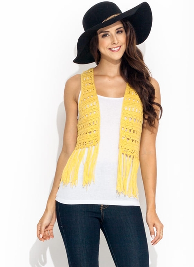 Flower Child Knit Vest