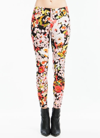 Flower Hour Abstract Print Leggings