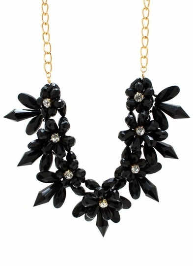 Flower Hour Beaded Necklace Set