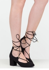 Forever A Fashionista Chunky Lace-Up Pumps