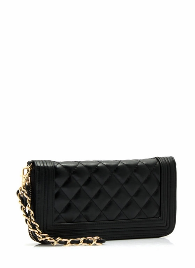 Frame It Quilted Wallet Clutch