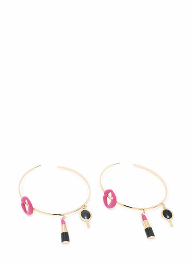Fresh Pout Hoop Earrings
