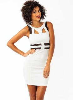 Fresh To Mesh Body Con Dress