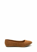 Full Gleam Ahead Pointy Faux Suede Flats