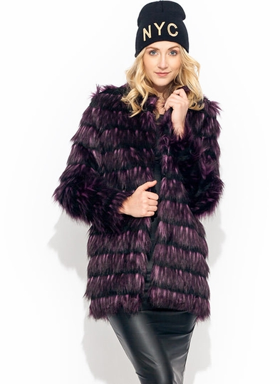 Fur Real Striped Jacket