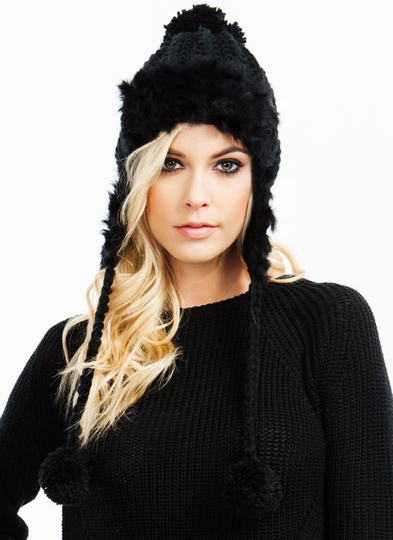 Fur-Tunate Knit Earflap Beanie