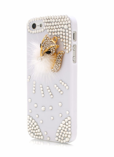 Furry Chipmunk Jeweled Phone Case