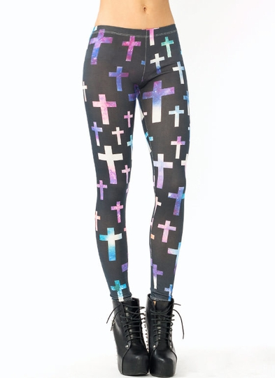 Galaxy Cross Leggings
