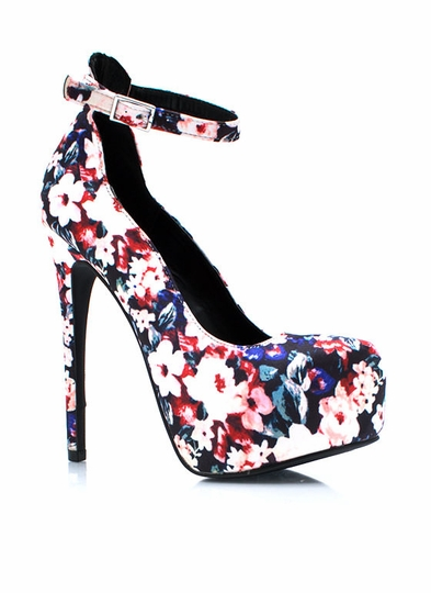 Garden View Ankle Strap Platforms