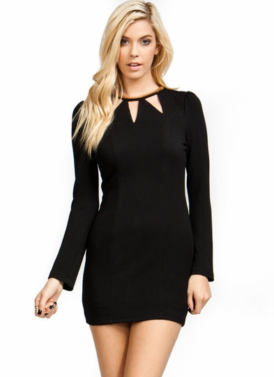 Get Collared Cut-Out Dress
