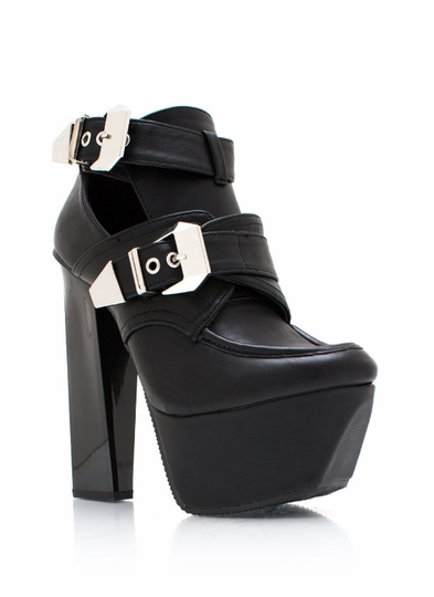 Get Creepy Buckle Booties