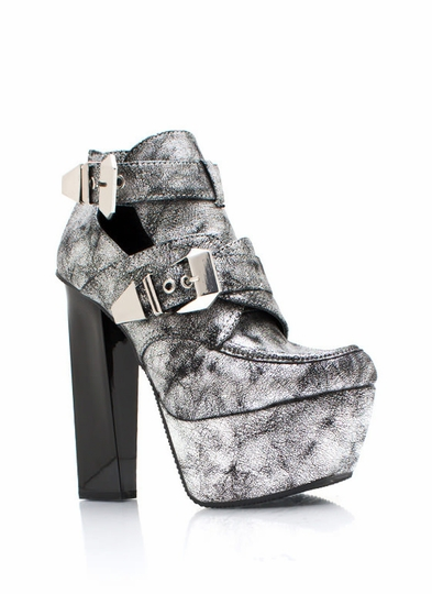 Get Creepy Metallic Booties
