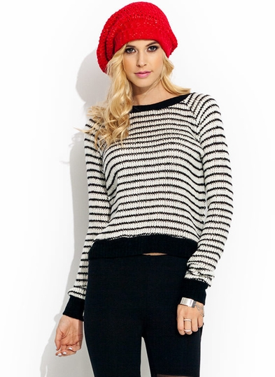 Get In Lines High-Low Sweater