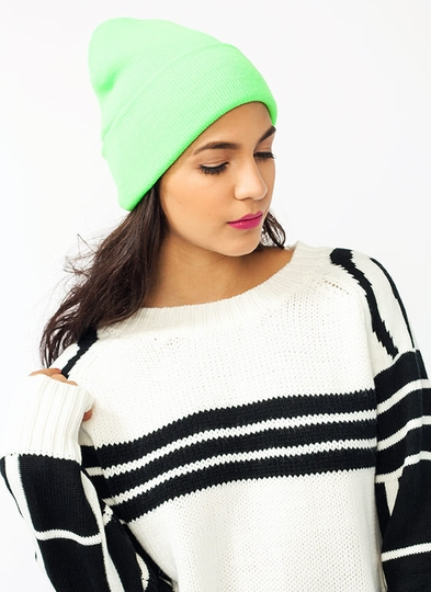 Get It Bright Fold Over Beanie