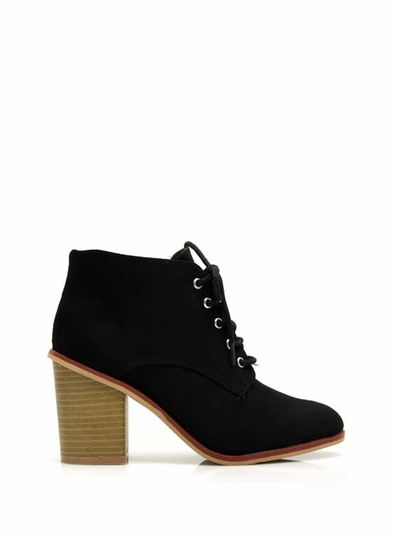 Get Laced Faux Suede Booties