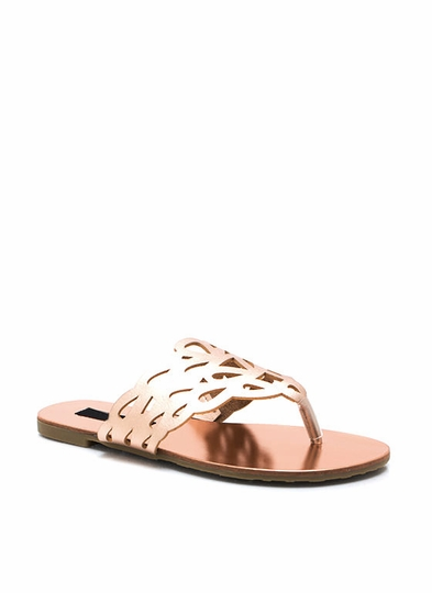 Get Loopy Cut-Out Thong Sandals