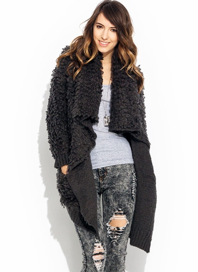 Get Loopy Draped Shawl Cardigan