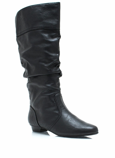 Get Slouched Faux Leather Boots