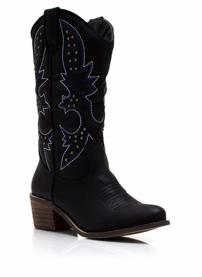 Get Stitches Studded Cowgirl Boots