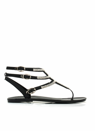 Glam Power Rhinestone Sandals