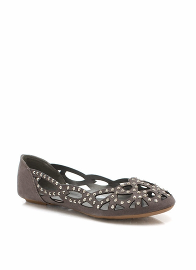 Glitzy Laser Cut-Out Flats