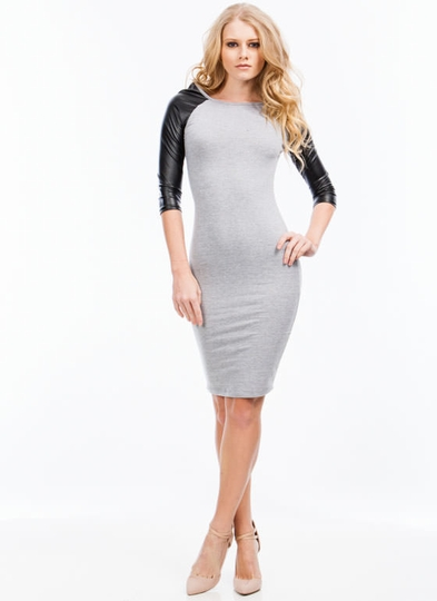 Good Sport Contrast Raglan Dress