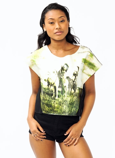 Graphic Native American Top