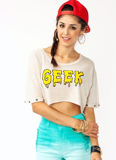 Graphic Studded Geek Tee