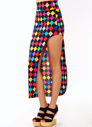 Harlequin Cut-Out Maxi Skirt