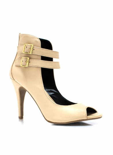 Harness Living Peep-Toe Heels
